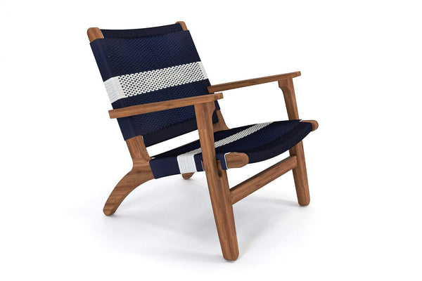 Royal Mahogany / Navy White Stripe Manila