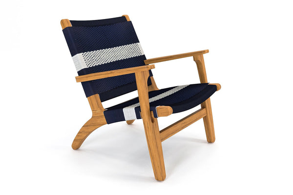 Teak / Navy White Stripe Manila