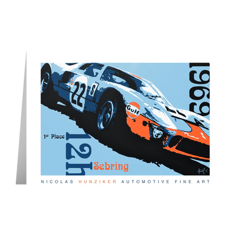 GT40 - 1969 Sebring 12h - Note Cards with Envelopes Pack