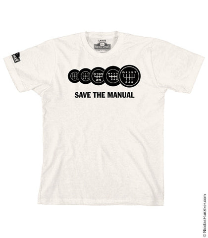 SAVE THE MANUAL Graphic Tee - Natural