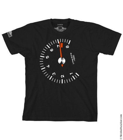 Racer's Tach Graphic Tee - Black