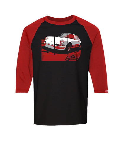 PRE-SALE: 73 Carrera RS 2.7 - Retro Graphic Tee - Black/Red