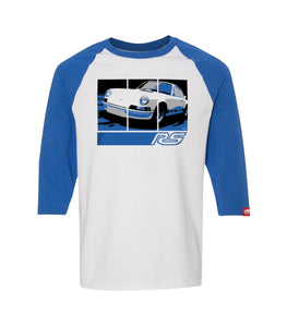 73 Carrera RS 2.7 - Retro Graphic Tee - White/Blue