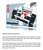McLaren 1988 MP4/4 - Ayrton Senna - Canvas Print