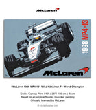 McLaren 1998 MP4-13 - Mika Hakkinen - Canvas Print