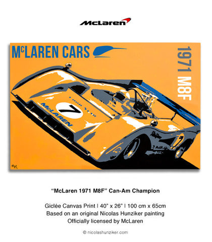 McLaren 1971 M8F - Can Am Champion - Canvas Print