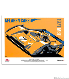 McLaren 1971 M8F - Can Am Champion - Paper Print