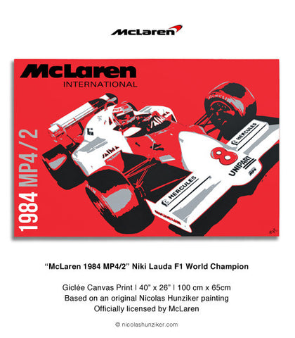 McLaren 1984 MP4/2 - Niki Lauda - Canvas Print