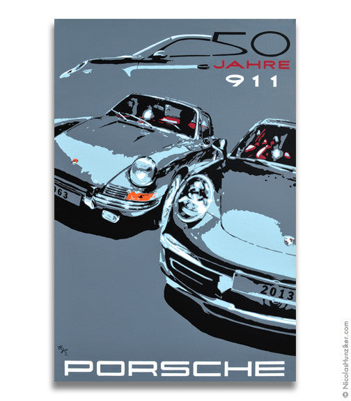 Porsche 911 50 Years - Canvas Print