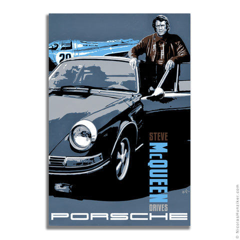 Steve McQueen Drives Porsche