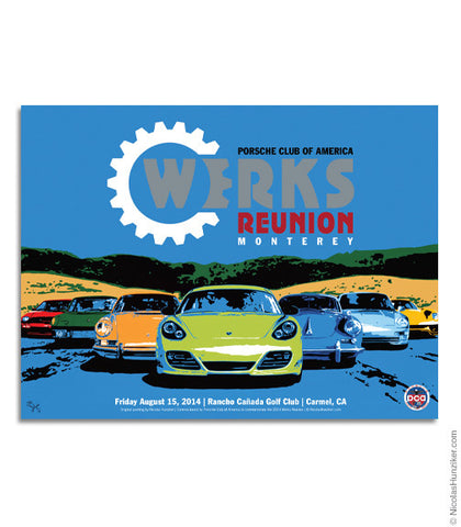 Porsche Club of America - Werks Reunion 2014 - Poster