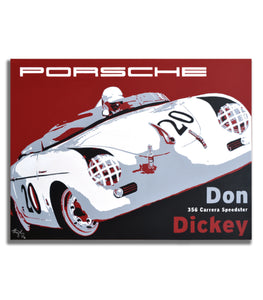 Porsche 356 Carrera Speedster - Don Dickey - Canvas Print