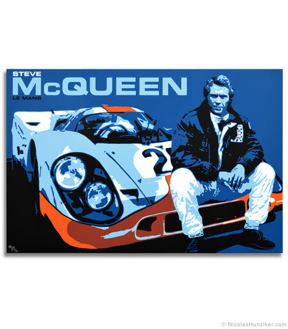 """Between Scenes"" - Steve McQueen Le Mans Trilogy - Painting No. 1 - Canvas Print"