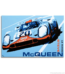 """No More Waiting"" - Steve McQueen Le Mans Trilogy - Painting No. 3 - Canvas Print"