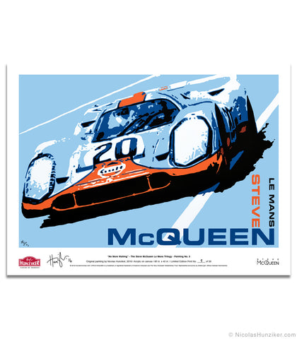 """No More Waiting"" - Steve McQueen Le Mans Trilogy - Archival Paper Print"