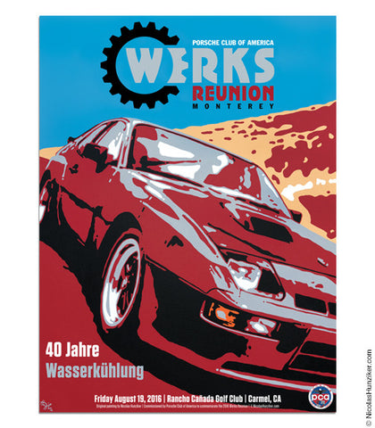Porsche Club of America - Werks Reunion 2016 - Poster