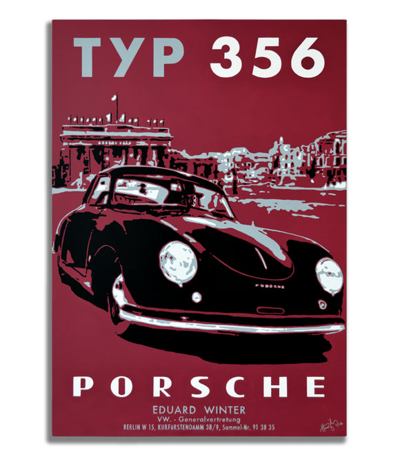 Porsche TYP 356 - Berlin 1951 - Canvas Print