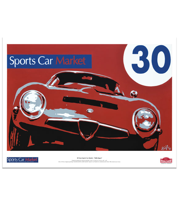 Sports Car Market 30th Anniversary Poster -