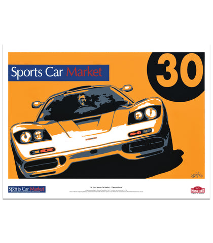 "Sports Car Market 30th Anniversary Poster - ""Macca Papaya"""