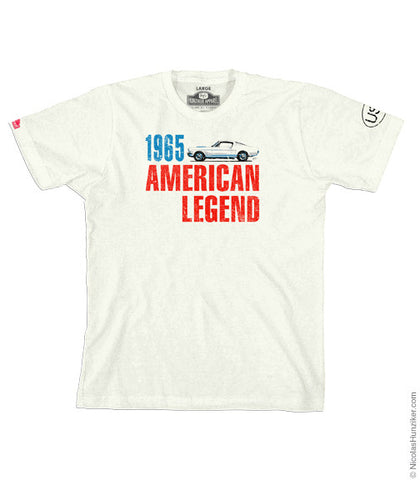 USA 1965 Mustang Graphic Tee - Natural