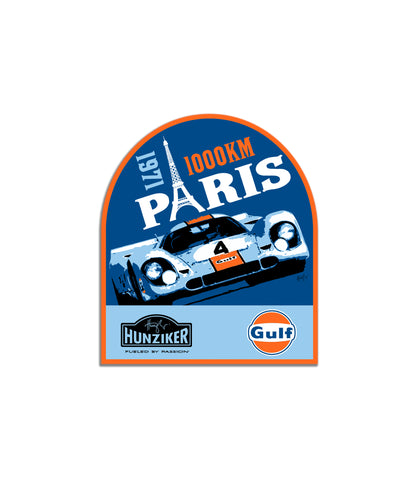Gulf Racing 1971 Paris 1000KM Art Sticker