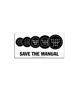 Save the Manual Sticker