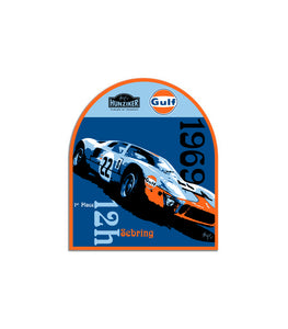 Gulf Racing 1969 Sebring 12H Art Sticker