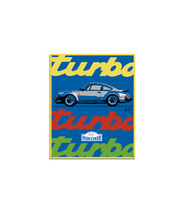 930 Turbo Art Sticker