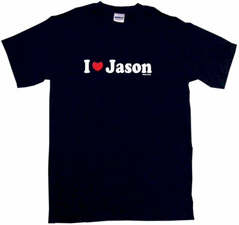 I Heart Love Jason Tee Shirt OR Hoodie Sweat