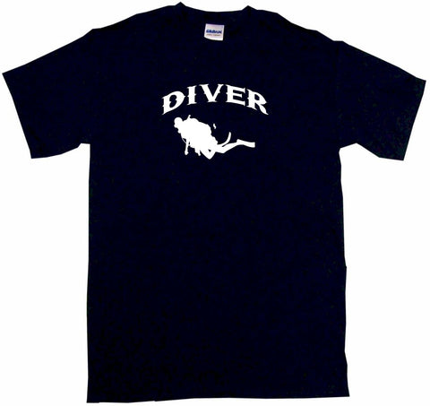 Diver Scuba Silhouette Logo Tee Shirt OR Hoodie Sweat