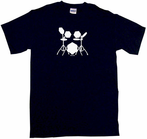 Electronic Drum Set Drummers Logo Tee Shirt OR Hoodie Sweat