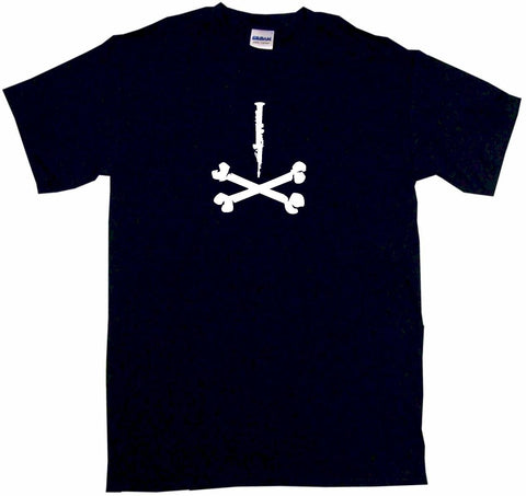 Clarinet Silhouette Pirate Skull Cross Bones Logo Women's Regular Fit Tee Shirt