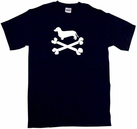 Dachshund Wiener Dog Pirate Skull Cross Bones Tee Shirt OR Hoodie Sweat