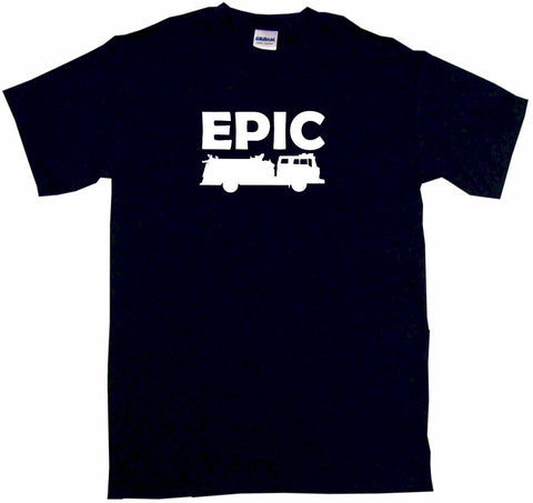 Epic Fire Truck Silhouette Tee Shirt OR Hoodie Sweat