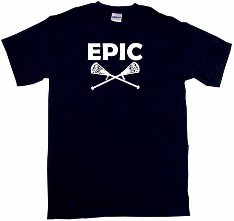 Epic Crossed Lacrosse Sticks Tee Shirt OR Hoodie Sweat
