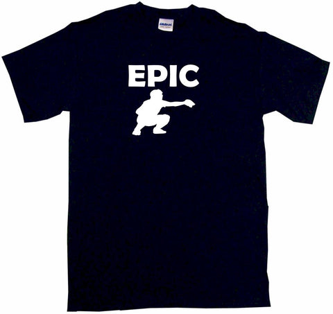 Epic Baseball Catcher Silhouette Tee Shirt OR Hoodie Sweat