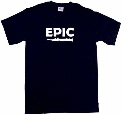 Epic Clarinet Silhouette Kids Tee Shirt