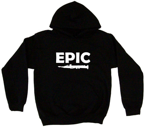 Epic Clarinet Silhouette Hoodie Sweat Shirt