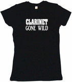 Clarinet Gone Wild Women's Petite Tee Shirt