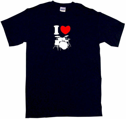 I Heart Love Drum Set Logo Tee Shirt OR Hoodie Sweat