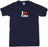 I Heart Love Tuba Tee Shirt OR Hoodie Sweat