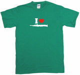 I Heart Love Clarinet Logo Kids Tee Shirt