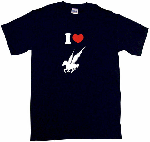 I Heart Love Pegasus Horse Logo Tee Shirt OR Hoodie Sweat