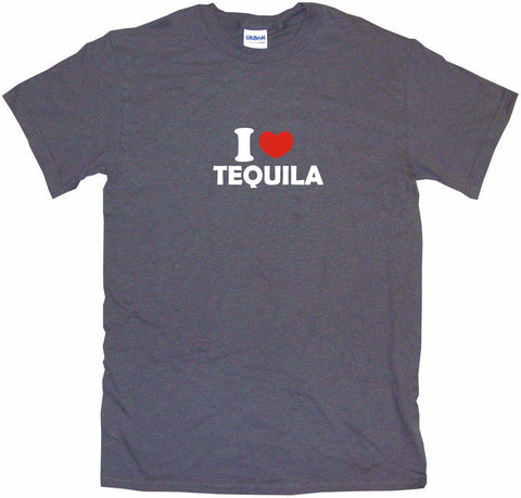 I Heart Love Tequila Men's & Women's Tee Shirt OR Hoodie Sweat