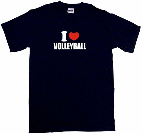 I Heart Love Volleyball Tee Shirt OR Hoodie Sweat