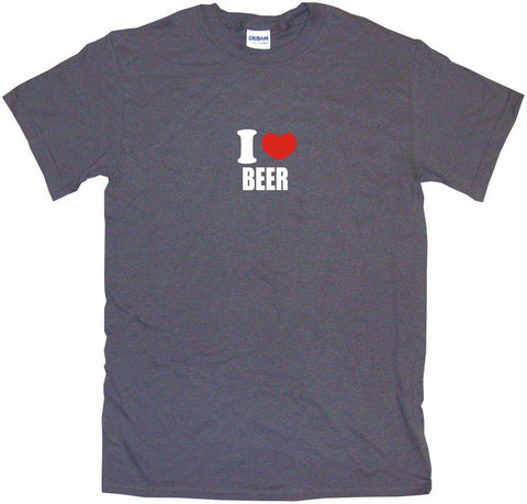 I Heart Love Beer Men's & Women's Tee Shirt OR Hoodie Sweat
