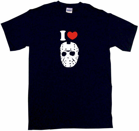 I Heart Love Jason Hockey Mask Logo Tee Shirt OR Hoodie Sweat