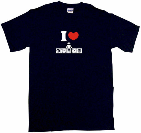 I Heart Love DJ Table Logo Tee Shirt OR Hoodie Sweat