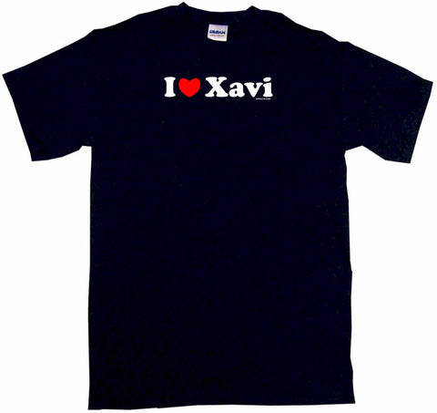 I Heart Love Xavi Tee Shirt OR Hoodie Sweat
