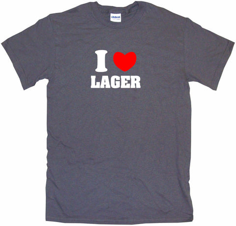 I Heart Love Lager Men's & Women's Tee Shirt OR Hoodie Sweat